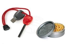 Набор огниво + щепки в банке LIGHT MY FIRE FS Scout 2.0+Tinder Dust Combo Red купить