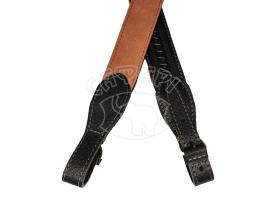 Ремень ружейный кожанный на кожанном подкладе Venandi Black купить