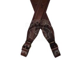 Ремень ружейный кожанный на ременной ленте Venandi Brown 02 купить